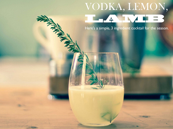 Vodka lemon rosemary cocktail
