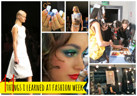 11 things I learned at Fashion Week