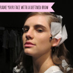 How to frame your face with a defined brow