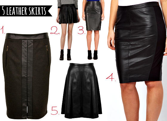 5 leather skirts