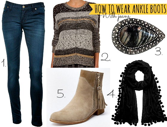 How to wear ankle boots with jeans