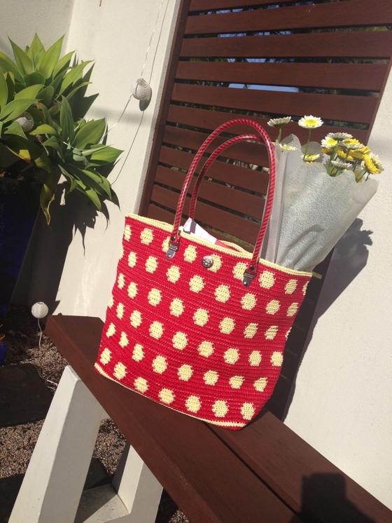 Skipping girl bag
