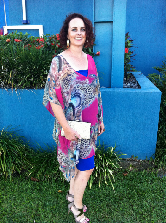 Paula wearing iAllure kaftan after unlocking her style with Styling You