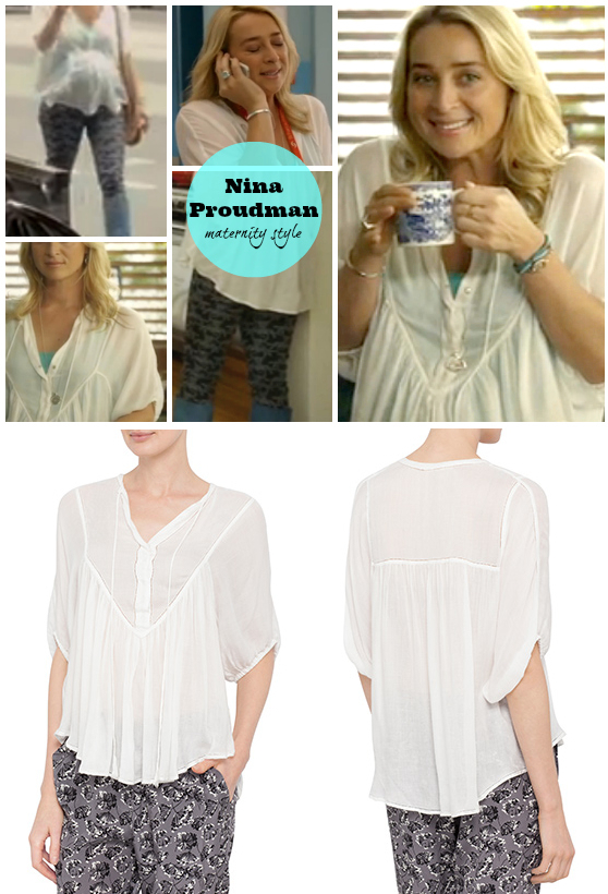 Lee Matthews Raggedy shirt as worn by Nina Proudman on Offspring Season 4