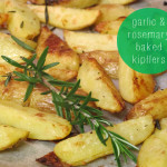 garlic and rosemary baked kipflers