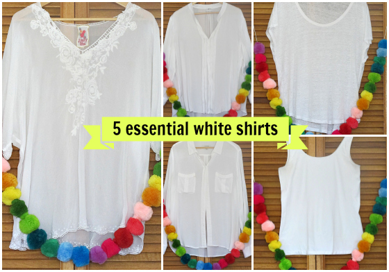 5 essential white shirts + how to care for them