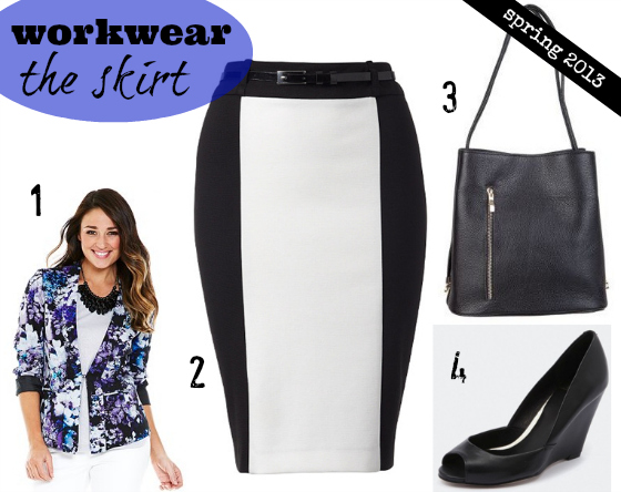 spring wardrobe essentials workwear - the skirt