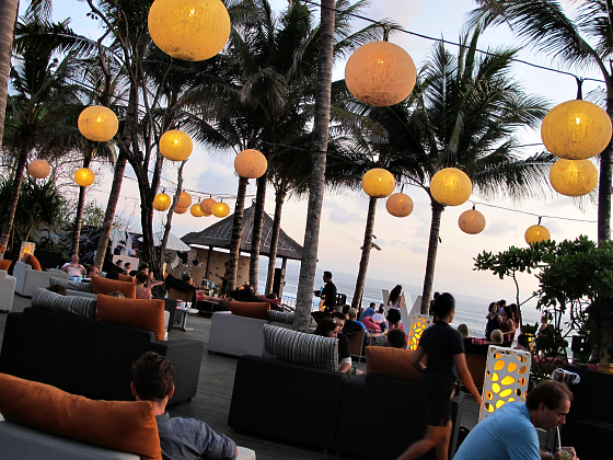 The W Hotel Bali lanterns Woo Bar