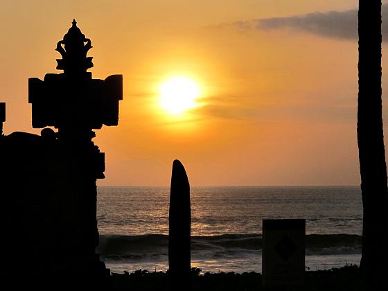 The W Hotel Bali sunset