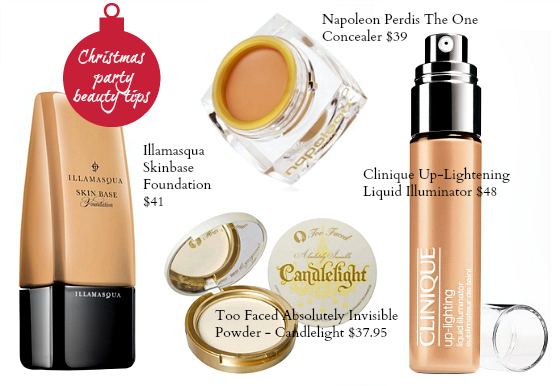 Christmas party beauty tips foundation