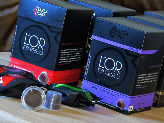 L'OR Espresso pods - review and iced black coffee recipe