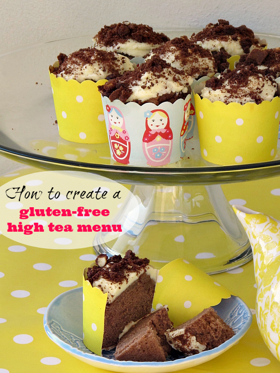 how to create a gluten-free high tea menu