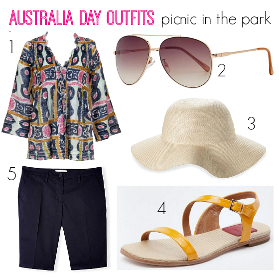 Australia Day outfits | picnic in the park