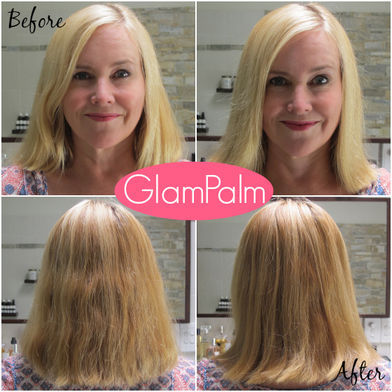GlamPalm hair irons before and after