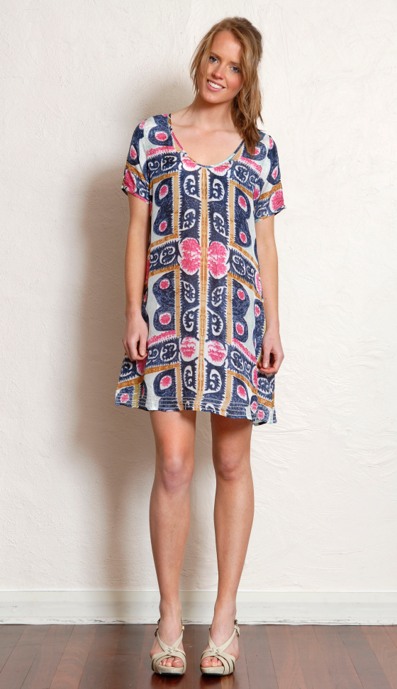 Lola Australia swing silk shift dress