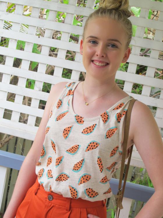 What to wear to university: Gorman top | Uberfine necklace | Gorman shorts