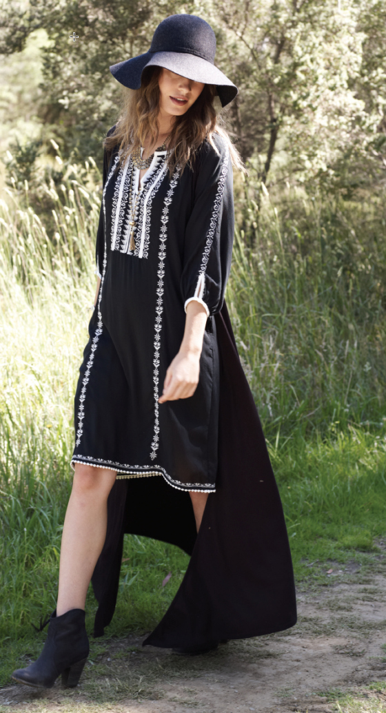 Boho Bird Morocco shift dress