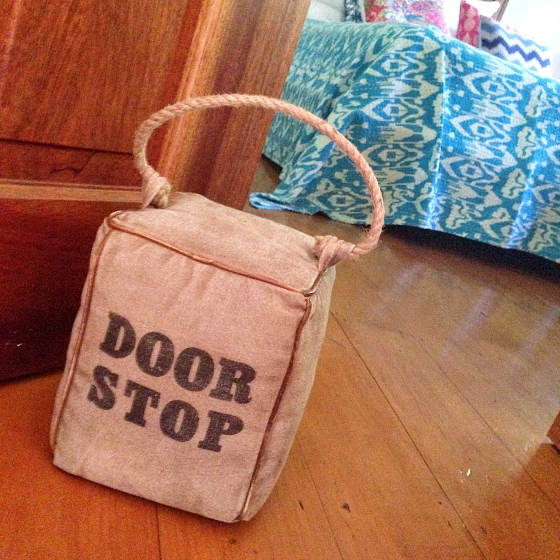Things I'm Loving door stop