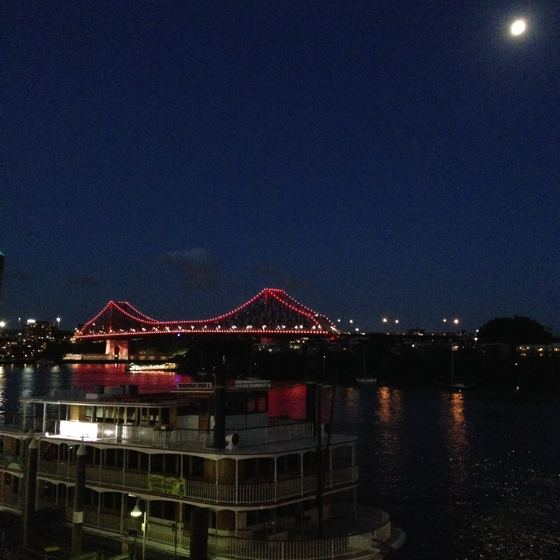 Brisbane's Story Bridge lit up in red for Daniel Morcombe