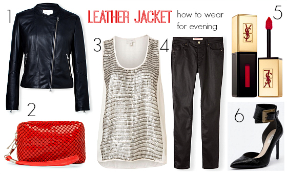How to wear a leather jacket for evening