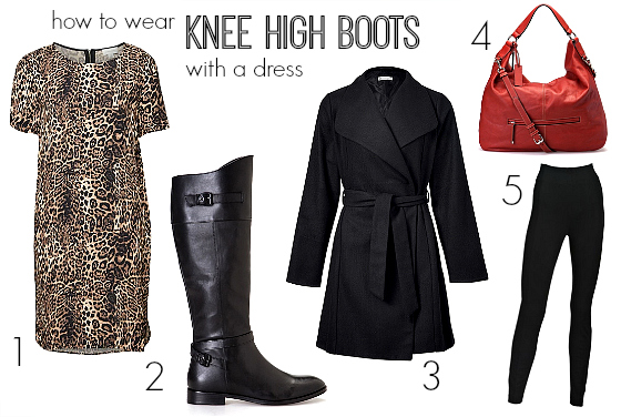 How to wear knee high boots with a dress