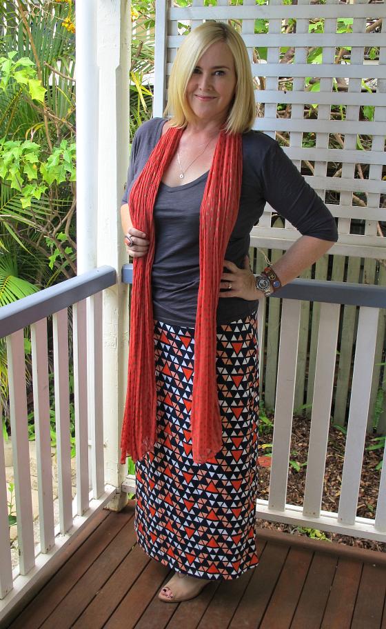 Boom Shankar maxi skirt | Boom Shankar top | Seed scarf | Samantha Wills ring | Noosa Amsterdam cuff | Zoe Kratzmann wedges