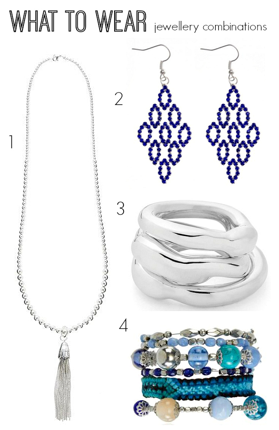 What to wear jewellery combinations