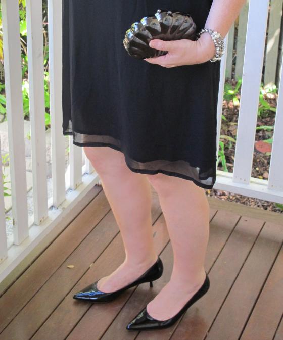 Zoe Kratzmann Escape kitten heels | Mimco bracelet | Vintage clutch