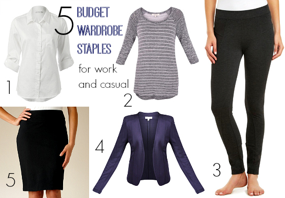 5 budget wardrobe staples for work and casual