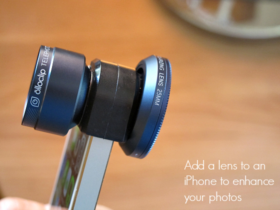 Add an lens to an iPhone to enhance your photos