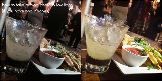 How to take a food photo in low light with an iPhone