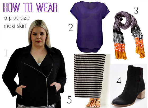 How to wear a plus-size maxi skirt