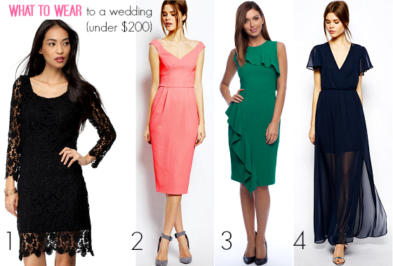 What to wear to a wedding - frocks priced under $200