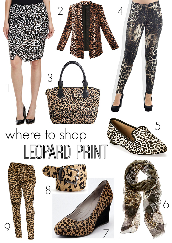 Where to shop leopard print AW14