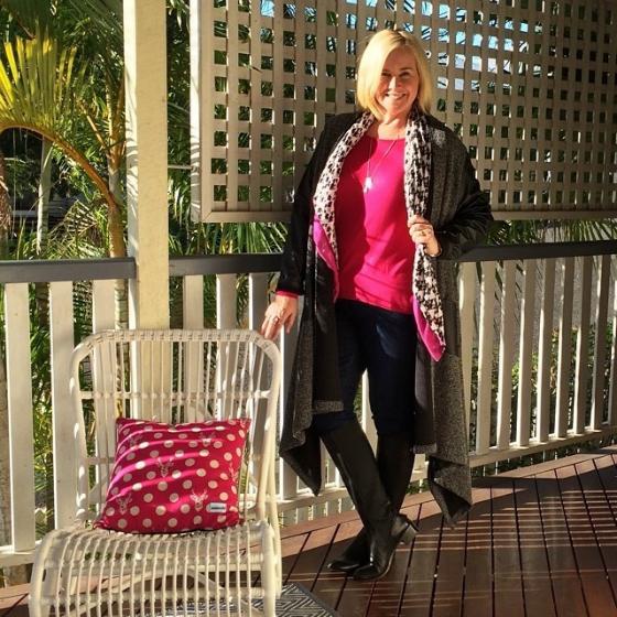 Harlow Australia cardi-coat | Metalicus top | Blue Illusion jeans | Zoe Kratzmann boots | Mimco scarf | Uberkate necklace