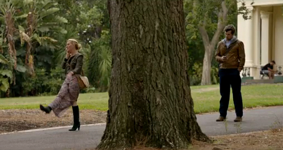 Offspring S5 Ep 11 Nina wears Warehouse skirt Sirrico leather jacket