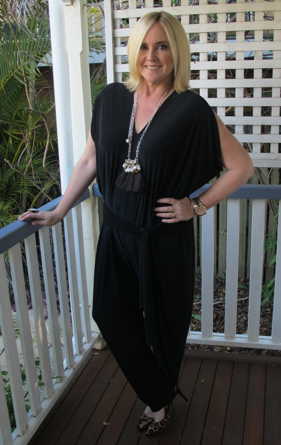 Sacha Drake Solange jumpsuit | Salita Matthews necklace | Nine West heels | Samantha Wills ring