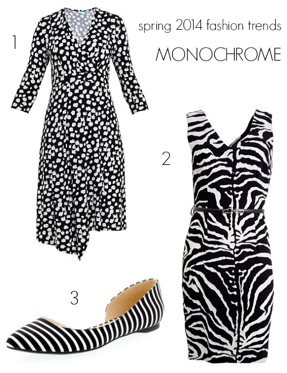 Spring 2014 fashion trends - monochrome