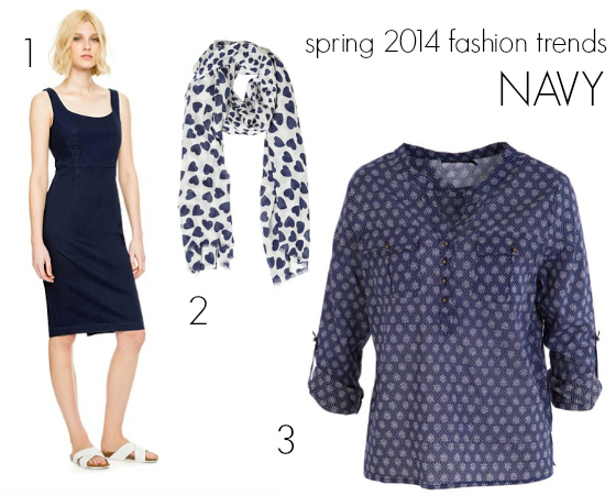 Spring 2014 fashion trends navy