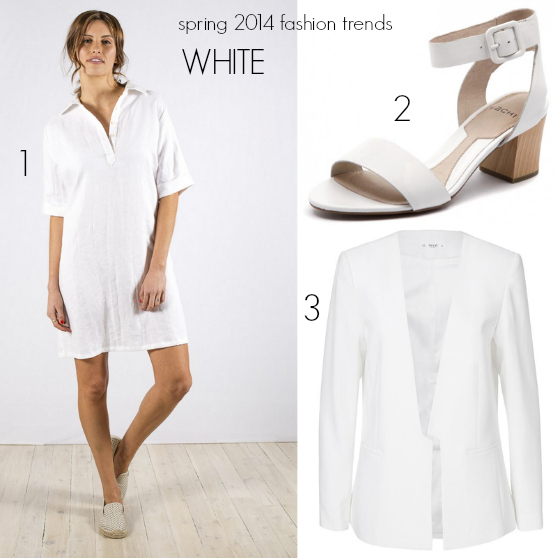 spring 2014 fashion trends white