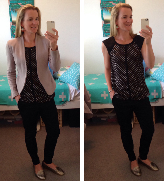 Beach Style Mum - how to wrangle the kindy drop-off with corporate dressing