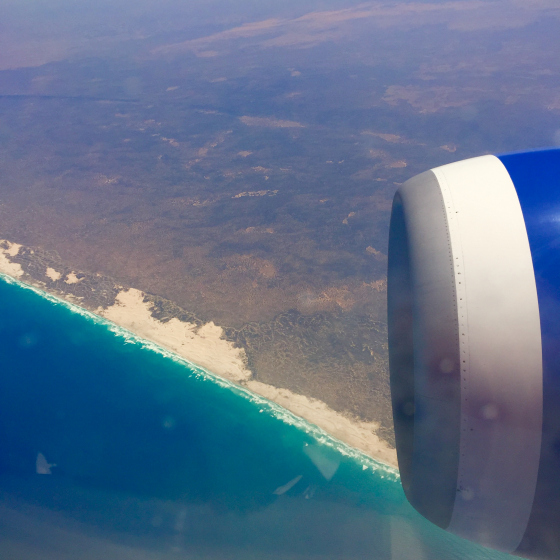 Flying over the Great Australian Bight