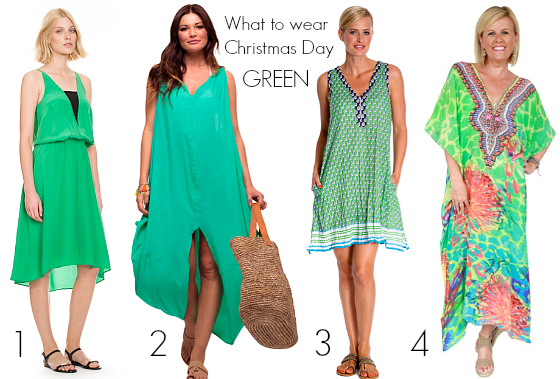 What to wear Christmas Day - Green