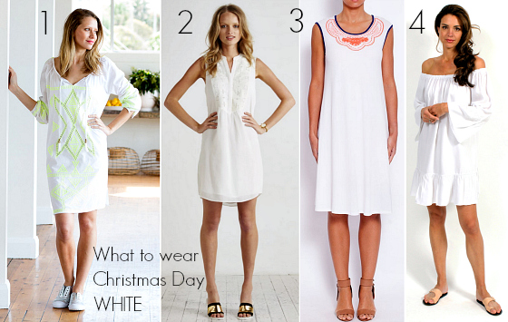 What to wear Christmas Day - white