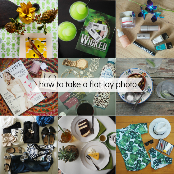 How to take a flat lay photo