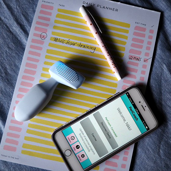 PeriCoach virtual trainer for your pelvic floor