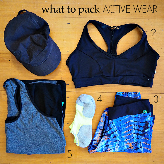 what to pack - active wear - European summer holiday