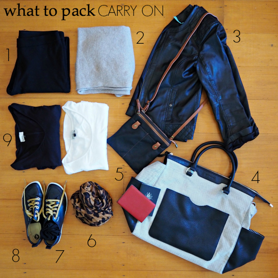 what to pack - carry on - long-haul flight - European summer holiday