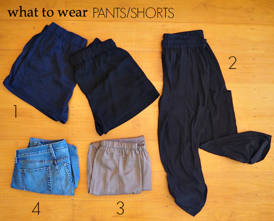 what to wear - pants/shorts - European summer holiday