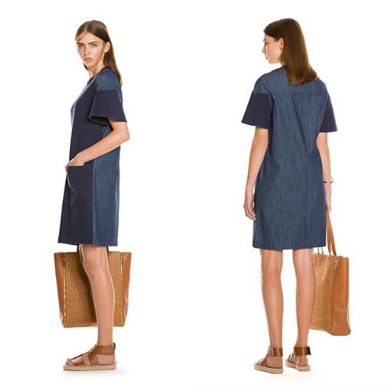 Denim overall dress australia